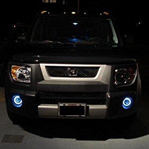 Honda Element Halo Fog Lamps Angel Eye Driving Lights Kit (blue)