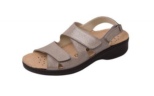 Weeger Orthopedic with Sandals Metallic Footbed Interchangeable Grey Women's RRrqnU7