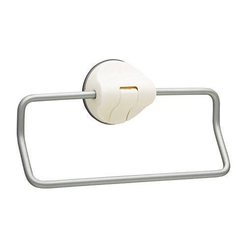 Aluminum towel ring lever-type sucker white BB-076 (japan - Towel Bb Ring