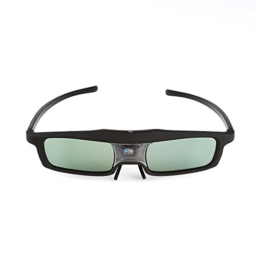 SainSonic CX-30 3D Glasses Active 144Hz Rechargeable for All DLP-Link Projector & TV, SamSung, Benq, Acer, Viewsonic, Optoma, Sharp, Mitsubishi, Nvdia, Sony, LG, Panasonic, Vivitek, Dell, Nec - Black
