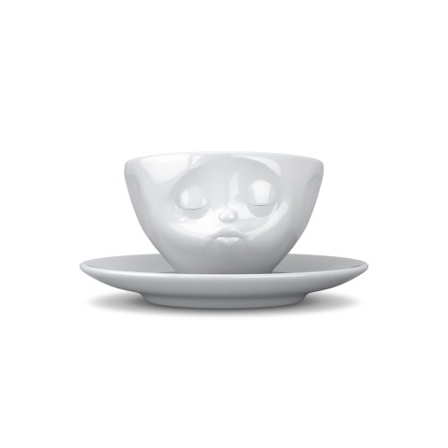 Tassen Face Espresso Coffee Cup with Saucer (Kissing)