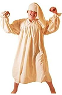 Childrens Scrooge Nightgown   Cap Fancy Dress Costume Outfit 128Cm 6 ... cbedcbb69f09