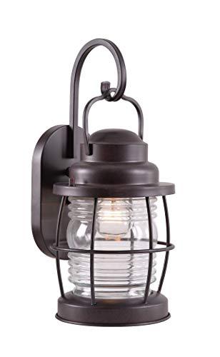 Kenroy Home 90952GC Beacon Medium Wall Lantern, Blackened Gilded Copper Finish
