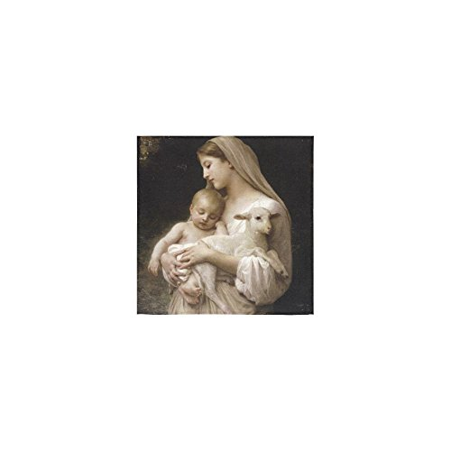 Christmas/Thanksgiving Day Towels Vingin Mary and Baby Jesus and Sheep Christian Catholic Religious Gift Thin Soft Towel(One Side)(13x13inches) by Virgin Marry Towel