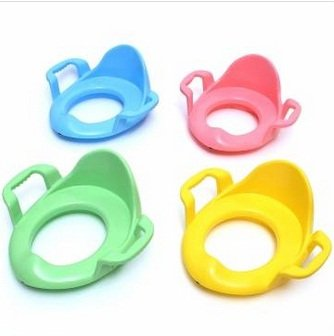Children Kids Baby Toddler Potty Seat Cushion Toilet Urinal Training Stand Stool With Handle/random color