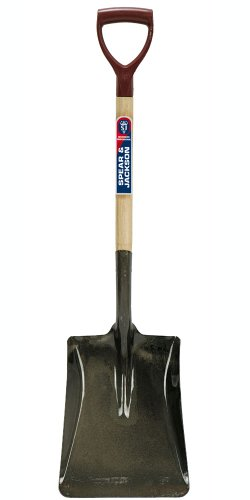 Spear & Jackson Square Mouth No.4 Open Socket Shovel with PY-Handle by Spear & Jackson