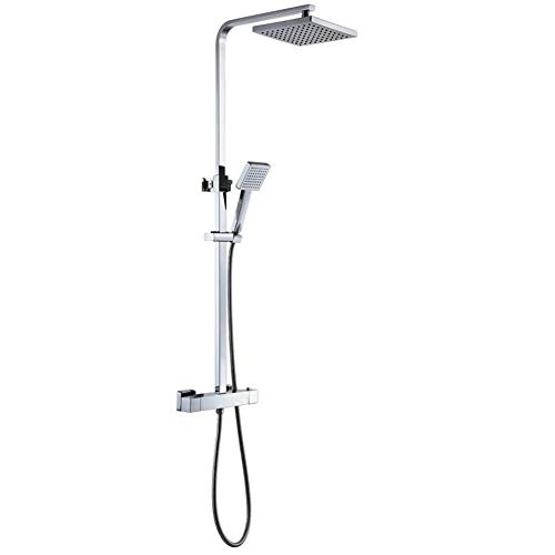 MICOE Bathroom Shower Mixer Set Thermostatic Valve with Square 8' Shower...