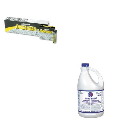 KITEVEEN91KIKBLEACH6 - Value Kit - Kik International Liquid Bleach (KIKBLEACH6) and Energizer Industrial Alkaline Batteries (EVEEN91)
