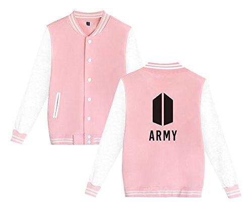 Da Baseball Cappotto Aivosen T shirt Army Felpe E Pink Confortevole Unisex Top Stampate Bts Giacca Uomini Sweatshirt Moda Donne Per 177wPqg