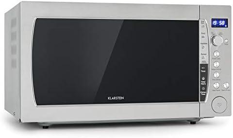 Klarstein MaxiWave microondas - 1200 W, 60l de capacidad (extra grande), 10 niveles de potencia, función descongelar, 5 programas automáticos, pantalla LED, a prueba de niños, acero inoxidable: Amazon.es: Hogar