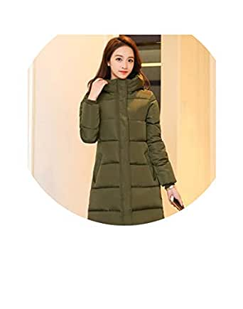 Amazon.com: Hooded Winter Down Coat Jacket Long Thick Warm