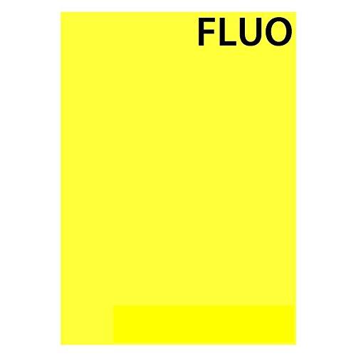 Autoadesivo, formato A4, colore: fluo, giallo fluo, 3 fogli Autocollant Sticker 2D