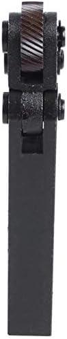 LOYAL TECHNOLOGY-PACKAGE Rändelwerkzeug 1,8 mm Pitch Doppelrad Slant Zähne Rändelwerkzeug for Metalldrehmaschine Handwerkzeug Getriebe (Color : Black)