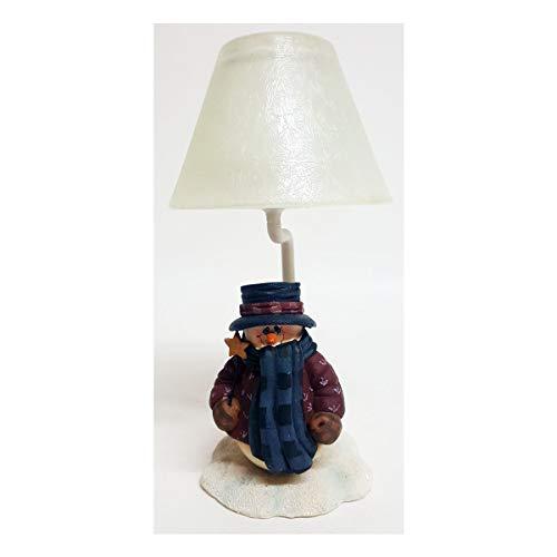 Snowman Tealight Lamp - Crazy Mountain Mindy Cain Collection Snowman Tealight Lamp MCC502