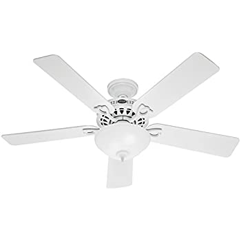 Hunter 53059 the astoria 52 inch white ceiling fan with five white hunter 53059 the astoria 52 inch white ceiling fan with five whitelight oak aloadofball Images
