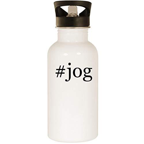 #jog - Stainless Steel 20oz Road Ready Water Bottle, White