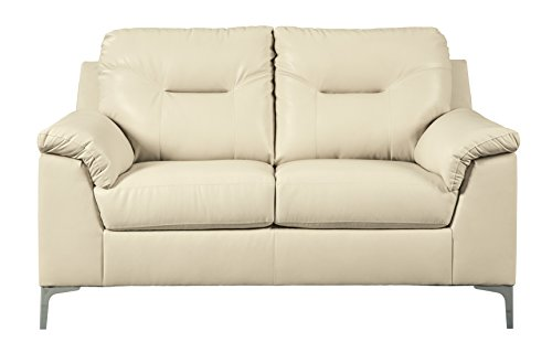 Ashley Furniture Signature Design - Tensas Contemporary Upholstered Loveseat - Ice