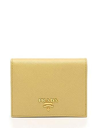 ca435177902e Amazon.co.jp: (プラダ) PRADA SAFFIANO METAL 二つ折り財布 サフィアーノレザー 黄 1M0204 中古:  服&ファッション小物
