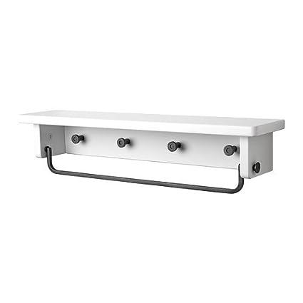 IKEA Hjälmaren - Toalla colgador / estante, blanco