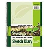 Ecology Sketch Diary, 8-1/2'' X 11'', Unruled, White, 70 Sheets, 1 Pad By: Pacon