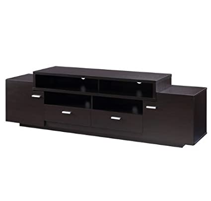 Attirant ModHaus Living Modern Transitional Wood 72 Inch Media Cabinet TV Stand With  2 Large Cabinets 2