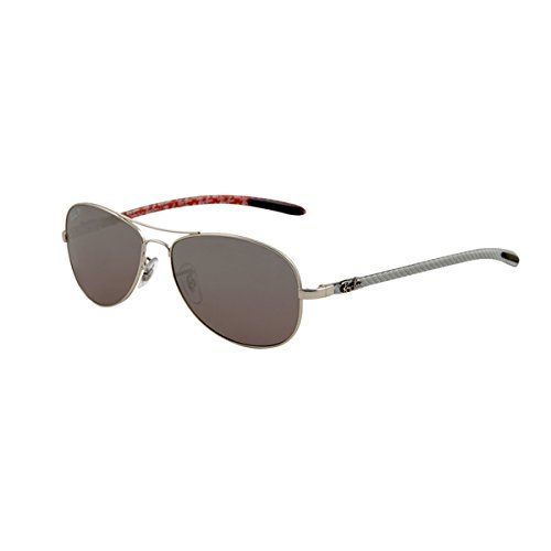 Ray-Ban RB8301 - MATTE SILVER Frame CRY. POLAR GREY MIR SILVER GR Lenses 59mm - Sunglasses 2014 Best Mens