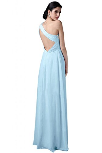 Abito 52 elegante Shoulder vestito Light d' Sunvary Chiffon Sweetheart da damigella ONE sera onore Sky Blue wxpqXqZnC