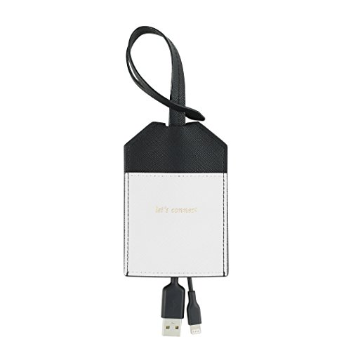 kate spade new york Portable, MFi Certified Disguised Lightning Cable to USB for Apple Charging - Black/Cream