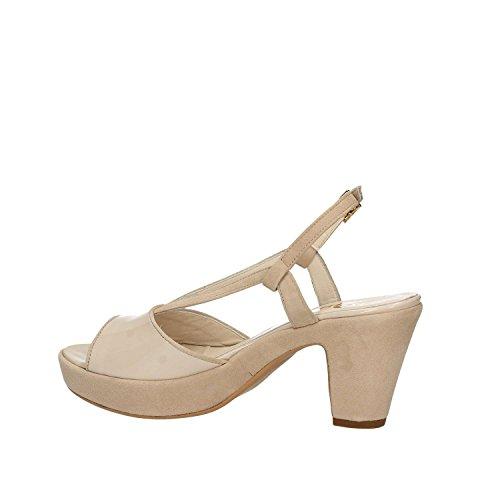 SHOES Sandalen Absatz mit Frauen E7963 Schwarz GRACE axwUqdEa