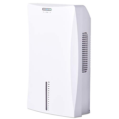 LATITOP Small Dehumidifier, Electric Home Dehumidifier with 2L 4.2 Pints Water Tank, High Humidity, Compact and Portable Mini Dehumidifier for Basement Bedroom Bathroom Baby Room Home Office, White