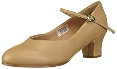 Leo Women's Chorus LINE Dance Shoe, tan, 4 Medium US
