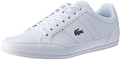 Lacoste Men's Chaymon BL 1 Fashion Shoes, WHT/WHT, 8 US