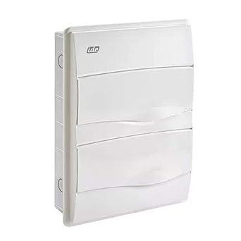IDE BM24PO IP40 Caja de Distribución de Empotrar, Blanco, 353mm x ...