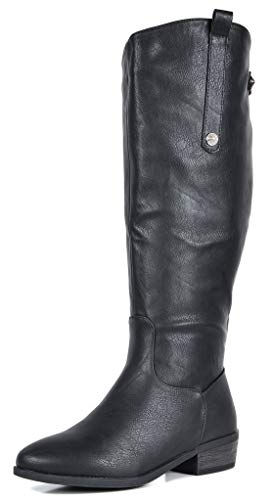 DREAM PAIRS Women's Black Luccia-New Knee High Winter Riding Boots Size 10 B(M) - Black Boots New Womens
