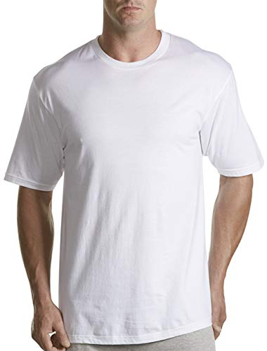 Harbor Bay by DXL Big and Tall Crewneck T-Shirts, White 3XLT, Pack of 3 ()