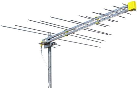 Antena logarítmica UHF/VHF 16 elementos aluminio anticorodal Offel fabricación Italiana picado F