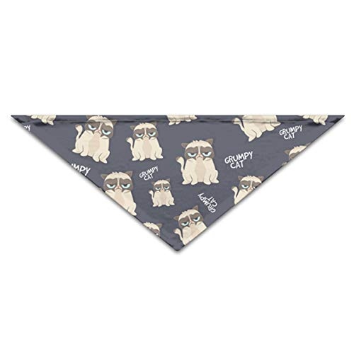 OLOSARO Dog Bandana Grumpy Looking Cat Triangle Bibs Scarf Accessories for Dogs Cats Pets Animals ()