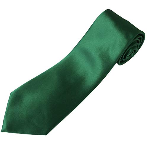 "100% Silk Extra Extra Long Necktie (Kelly Green) XXL Tie for Big and Tall Men - 70"" ()"