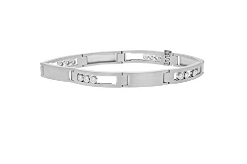 1.50 CT Men's Diamond Bracelet 18K White Gold (VS1-VS2 Clarity, 37 Grams) Diamond 18k Gold Bracelet
