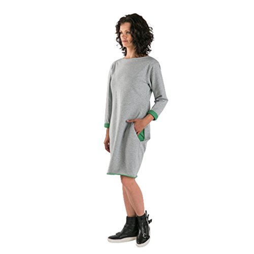 Elevin(TM) Fashion Family Mother Children T-shirt Matching Outfit Long Sleeve O-Neck Dress (Mother-Green, XL) ()