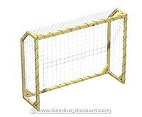 Fußball Tor aus Holz mit Netz, 196x148cm - Kinderspielgeräte für Garten,...