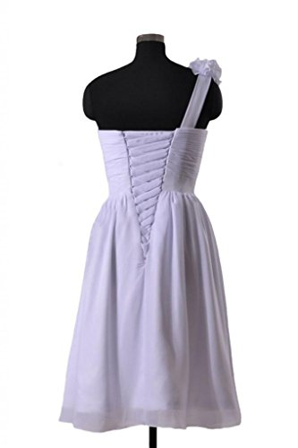 Daisyformals Courte Robe De Mariée En Mousseline De Soie Épaule W / Fleurs À La Main (wd223) # 58 Blanc