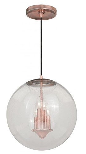 Vaxcel P0125 630 Series Pendant with Clear Glass, 15-3/4