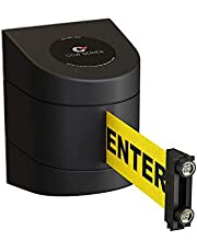 Magnetic Wall Mount Retractable Belt Barrier with ABS Case-CCW Series WMB-230 (15 Foot Belt, Caution Do Not Enter Belt with Black ABS Case)