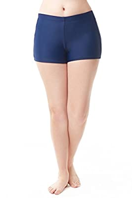 Love My Curves Womens Plus Size Navy Banded Swim Shorts