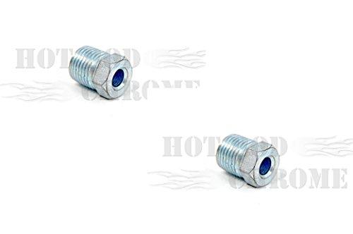 "/16""-18 For 3/16"" Brake Line Anodized White Zinc (Pair) (Brake Rod Nut)"