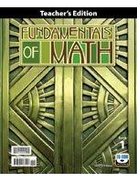 Fundamentals of Math (Teacher Edition)