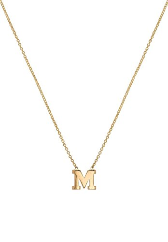 14k gold initial necklace by Zoe Lev Jewelry