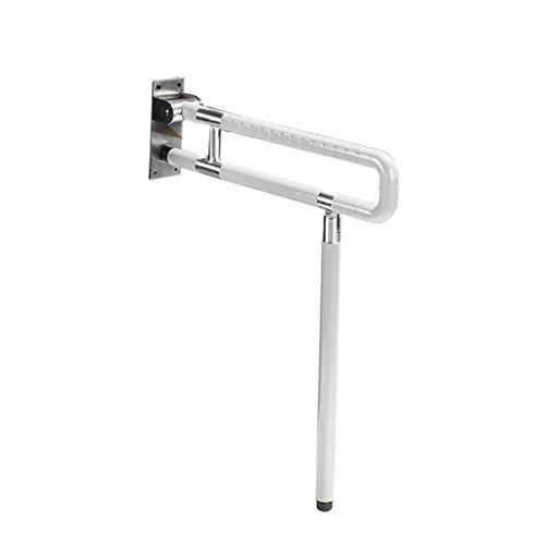 - Handrail Handles Bathroom Flip-Up Toilet Grab Bar Folding Safety Shower with Surpport Leg for Elderly Disabled Stainless Steel with White Nylon Tube (Size : 75cm)
