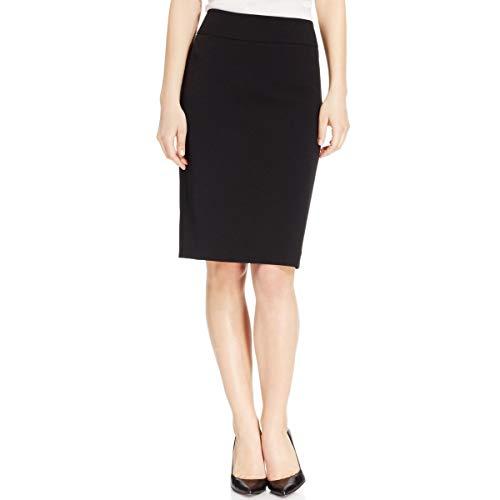 Kasper Women's Petite Size Stretch Crepe Yoke Skirt, Black, 16